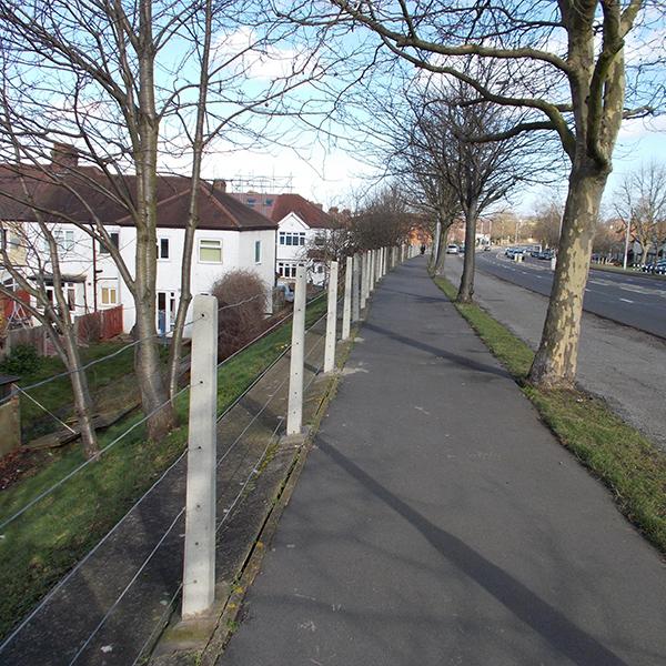 Strained Wire Concrete Fence Posts Allen Concrete
