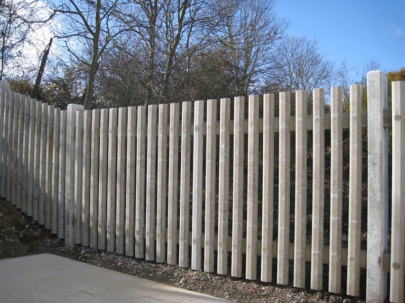 Concrete Palisade Fencing Secure Fence Posts Allen