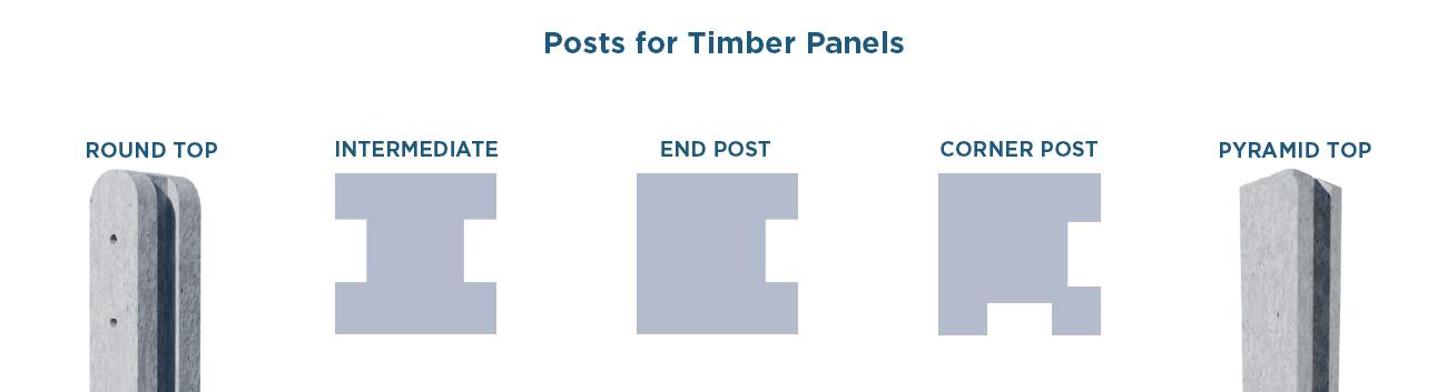 Slotted Fence Posts & Gravel Boards | Allen Concrete