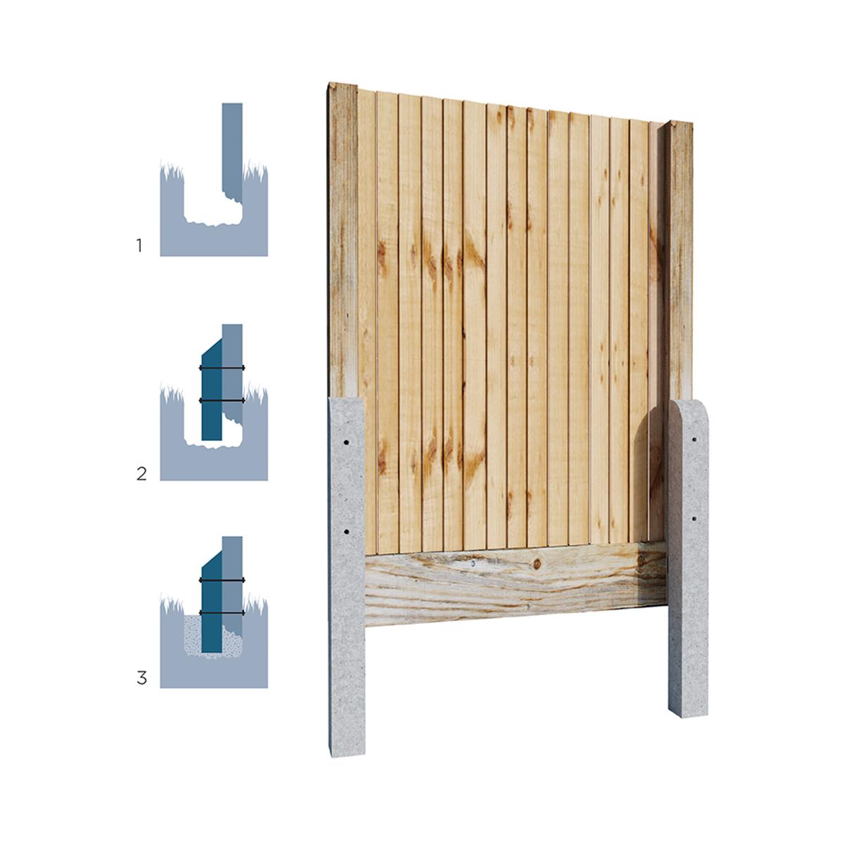Precast Concrete Spurs | Fence Repair Spurs | Allen Concrete