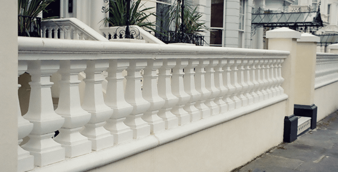 Concrete balustrade
