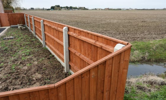 Recessed Fence Posts